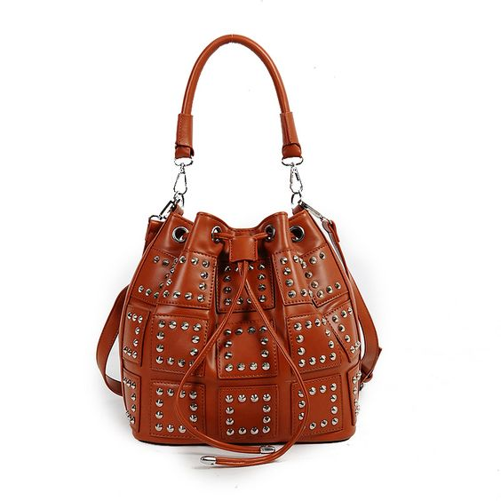 Find More Shoulder Bags Information about Good Discount Coming!  Locomotive Rivet Single Shoulder Bags All Match Lady Fashion Bucket,High Quality bag hood,China bag cell Suppliers, Cheap rivet running from GengNan store on Aliexpress.com