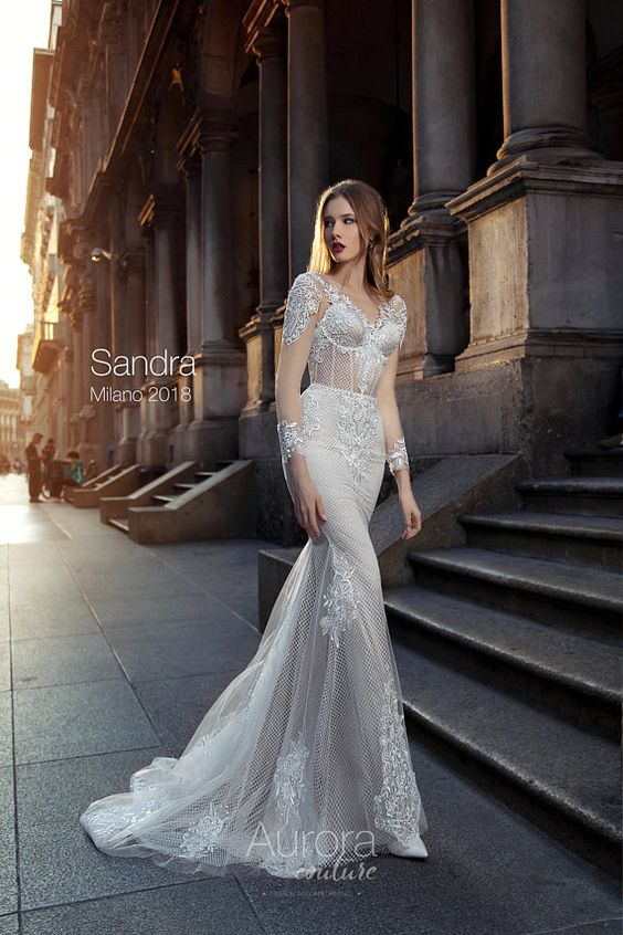a special Wedding dress with a unique pattern