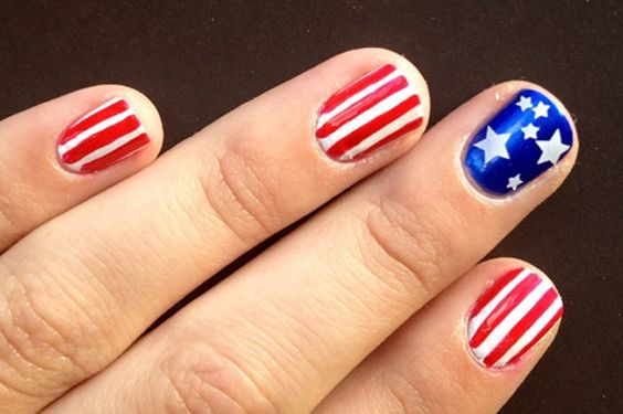 Nail Art: 4th of July <-- fun!