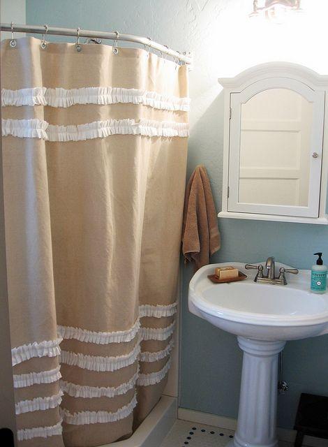 Drop Cloth Shower Curtain