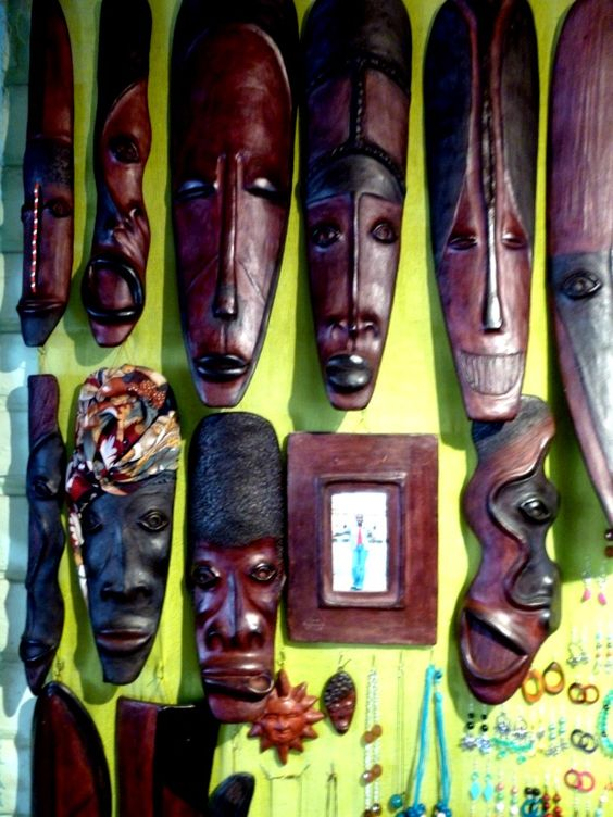 Mask made of wood and mud tell the story of the Afro-Ecuadorian communities