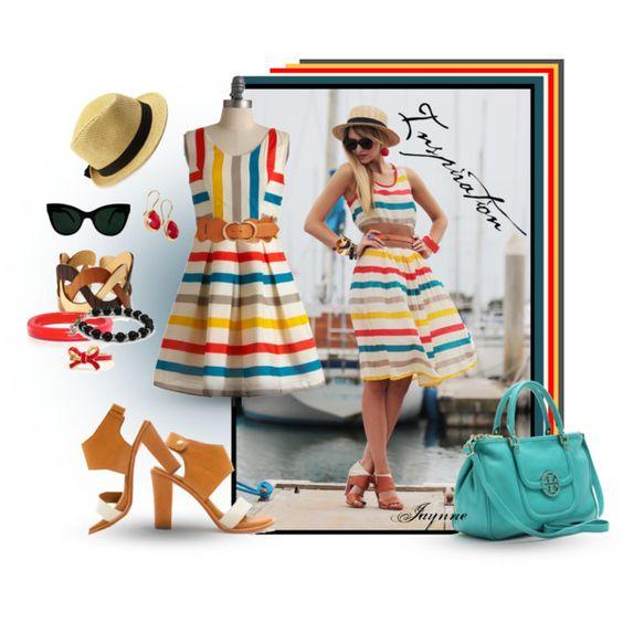 """""""'Sassy Stripes Sundress'"""" by rjaynne on Polyvore #sundress #stripes #fashion #polyvore"""