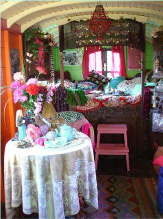 Caravan, Caravan-Innenraum and Zigeuner on Pinterest