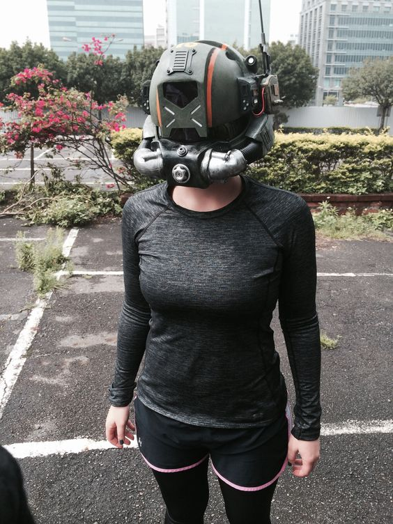 Abbie with Pilot helmet in Hong Kong | Titanfall ...