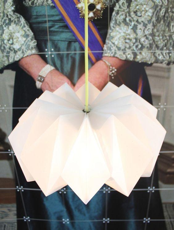 diy paper lamp h o m e pinterest origami papier aquarell und papierlampen. Black Bedroom Furniture Sets. Home Design Ideas