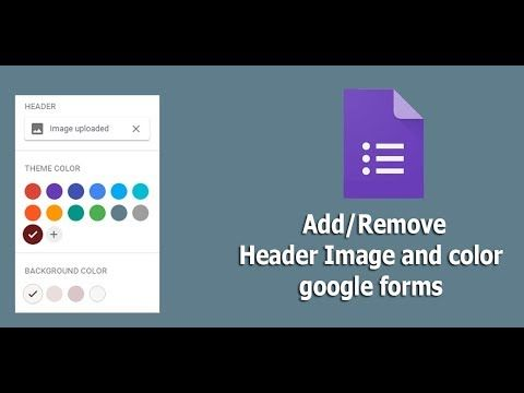How To Add Or Remove Header Image And Theme Color In Google