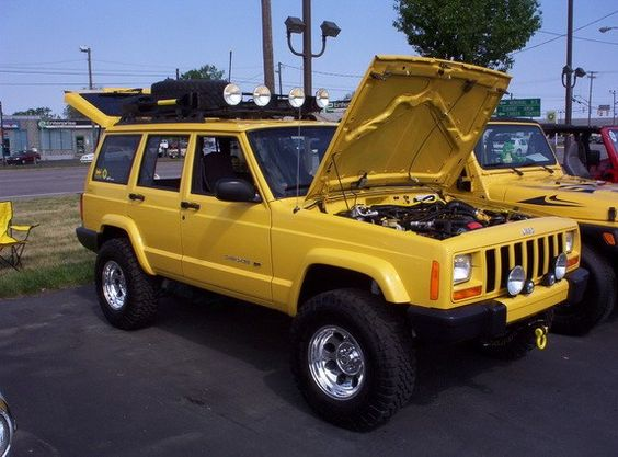 Baby Ditto S Soon To Be New Paint Job Yellow Jeep Cherokee