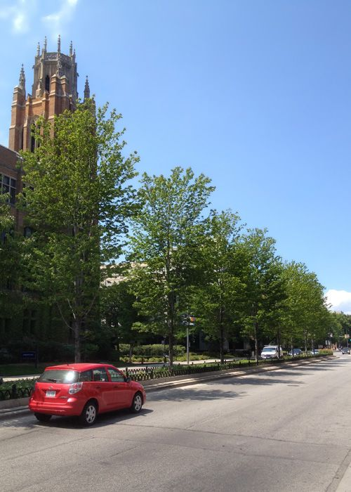 12th Street and Wisconsin Avenue at Marquette University.