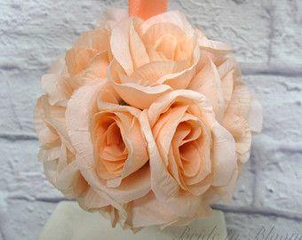 Pomander naranja besos bola flor chica por BrideinBloomWeddings