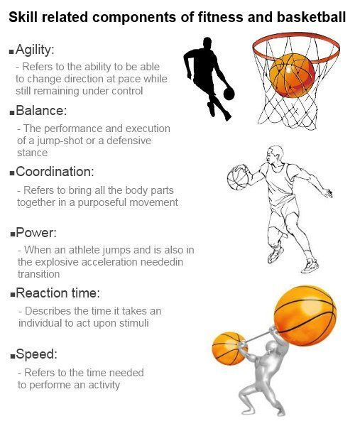 Skill Related Components Of Fitness And Basketball Basketball Components Fitness Related Skill In 2020