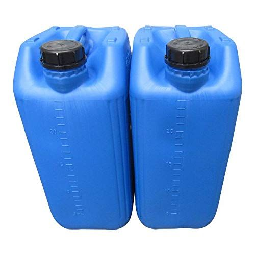 4 X 25 LITRE 25L 25000ML NEW RED AND BLUE JERRY CAN WATER CONTAINER CARRIER