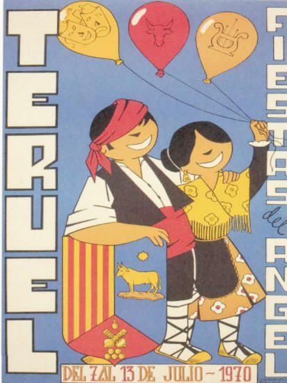 Carteles Fiestas del Ángel Teruel 1970