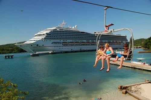 """Magical Flying Beach Chair"" Mahogany Bay, Isla Roatan Honduras"