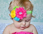 Flower Headbands... Baby Girl Headbands... Summer Headbands
