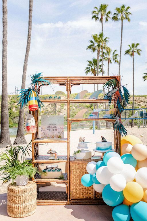 Shark Surf Themed 1st Birthday Shark Themed Party 100 Layer