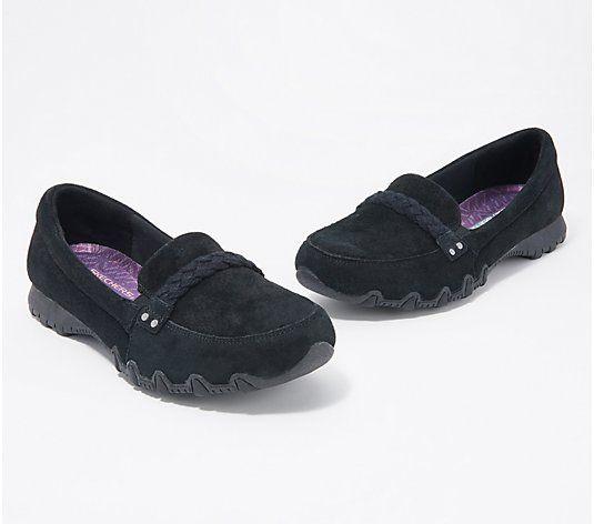 Skechers Suede Slip-On Shoes - Bikers