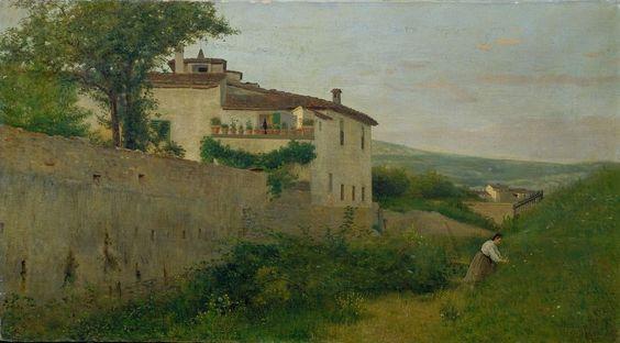 Silvestro Lega, Il villino Batelli a Piagentina, 1863