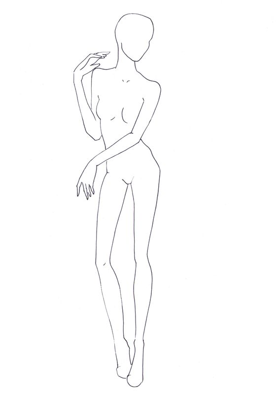 Figure Drawing for Fashion Design 8 outline