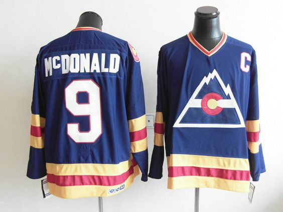 CCM Colorado Avalanche 9 Lanny MCDONALD Throwback Jersey