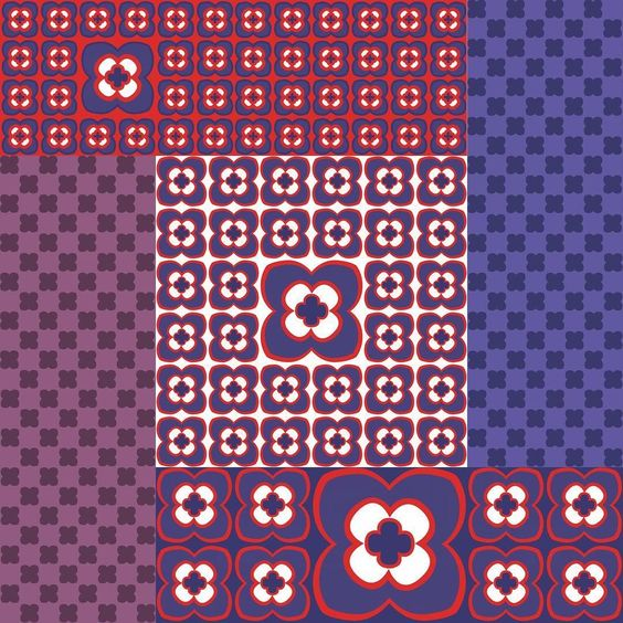 Some New Additions To My Mod Squad Collection On Spoonflower Purple And R In 2020 Retro Fabric Spoonflower Custom Fabric