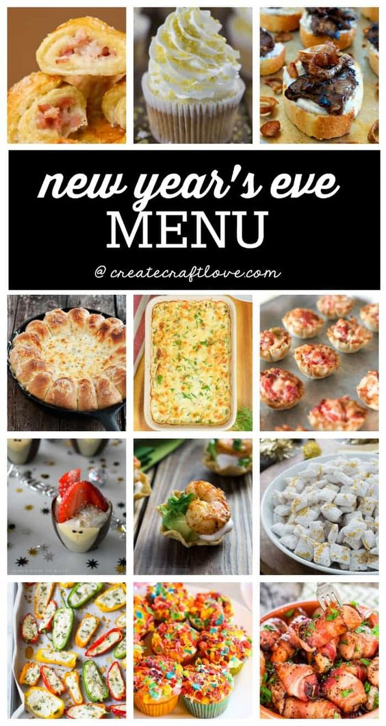 New Years Eve Menu | Recipes - Create Craft Love