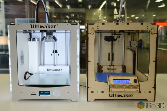 Ultimaker 1 and Ultimaker 2