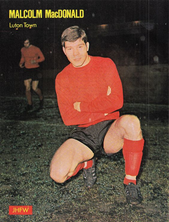 Circa 1969/70; Luton Town centre forward Malcolm MacDonald.