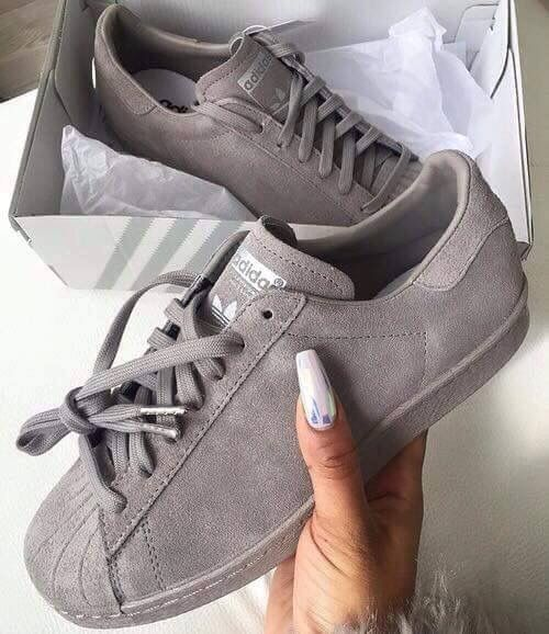 basket adidas femme superstar grise