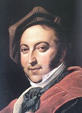 Portrait of Gioachino Rossini in 1820, International Museum and Library of Music, Bologna, 29 February 1792 – 13 November 1868