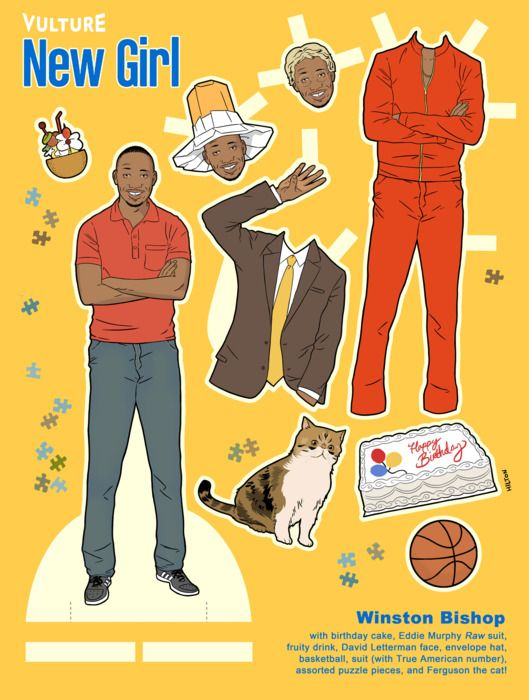 Print Out Vulture's New Girl Paper Dolls -- Vulture