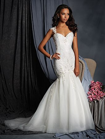 Alfred Angelo Style 2523: Classic fit and flare wedding dress in ...