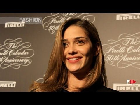 """""""TOP MODELS"""" at the PIRELLI CALENDAR 2014 Press Conference by Fashion Channel - YouTube"""