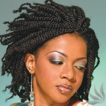 Peachy Twists Twist Hairstyles And Kinky Twists On Pinterest Hairstyle Inspiration Daily Dogsangcom