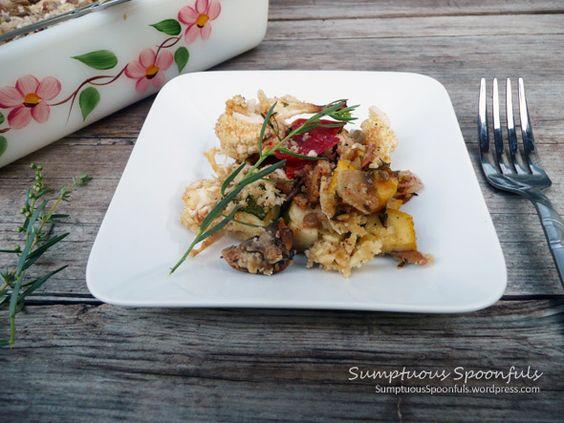 Tarragon Sunflower Roasted Vegetables