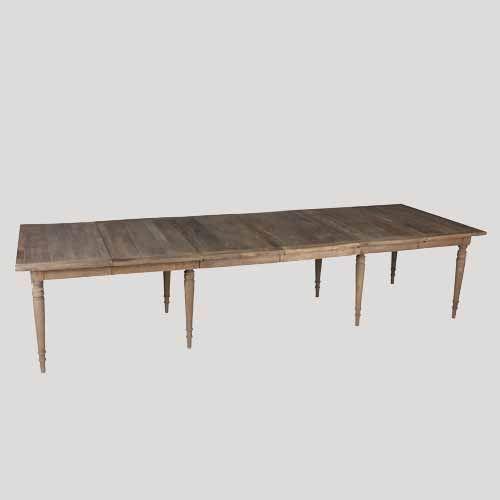 Mesa comedor extensible natural material olmo colores - Medidas mesas comedor ...