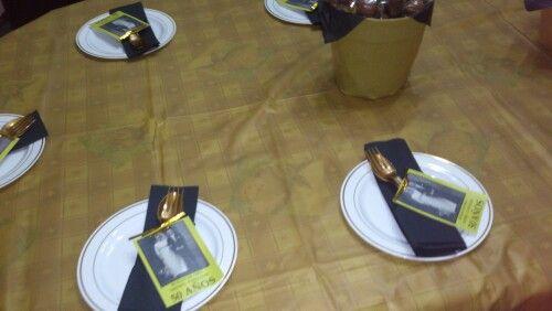 Cubiertos aniversario bodas de oro