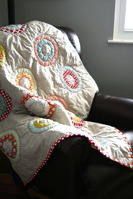 circles quilt - so cute!