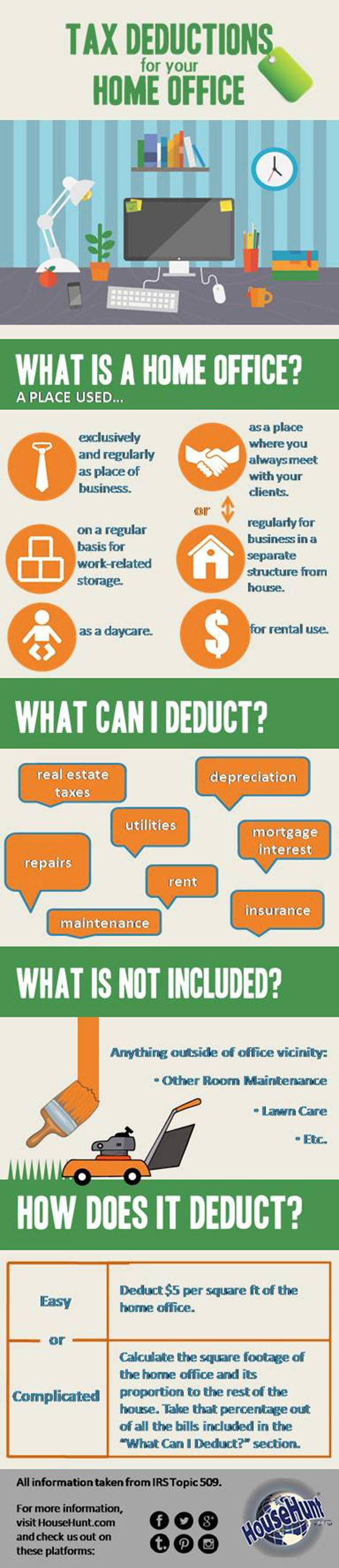 Tax Deductions for a Home Office #Infographic Visit our website at http://memorizationtechniquess.blogspot.com/