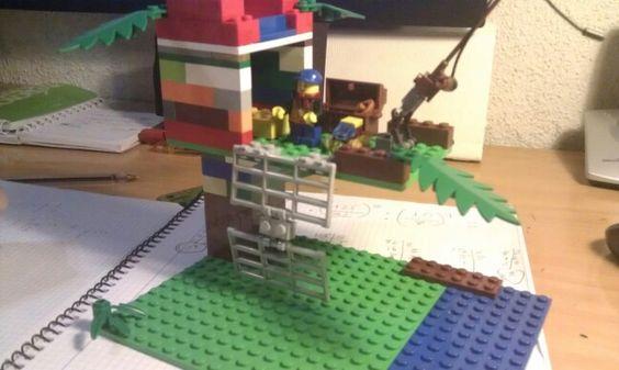 Mi casa del arbol. Voy a pescar