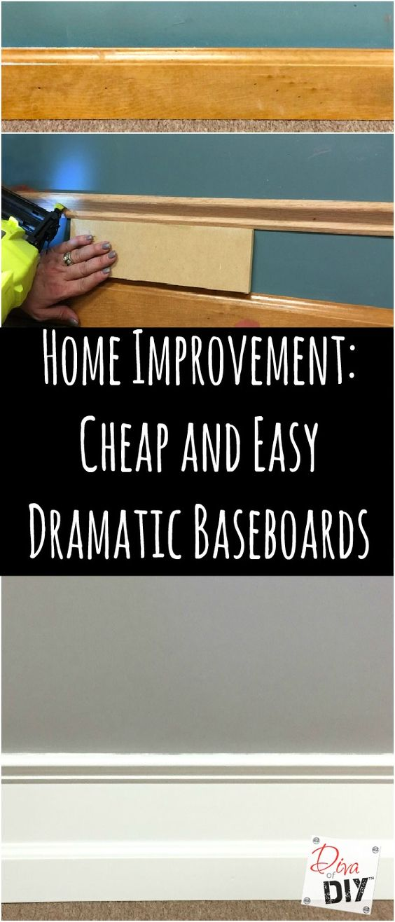 Home improvement cheap and easy dramatic baseboards for Cheap and easy home improvements