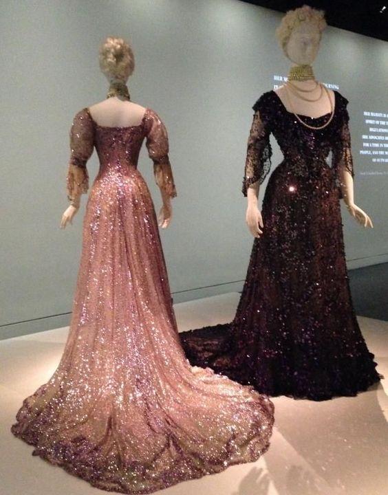 Cheap Vestido Victoriano de raso francés Luto Vestidos Usados por La Reina…