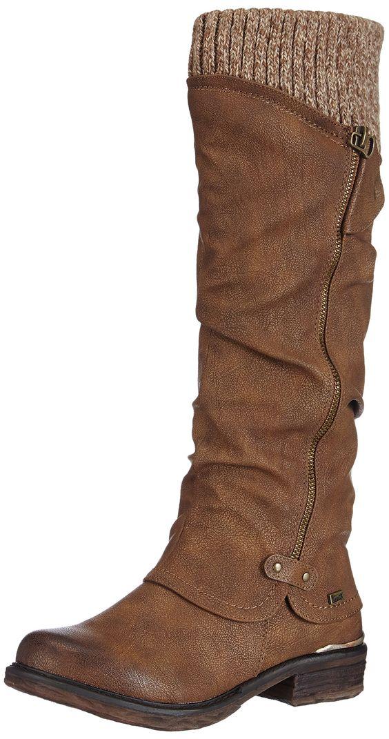 rieker 98956 25 bottes femme amazonfr chaussures et sacs