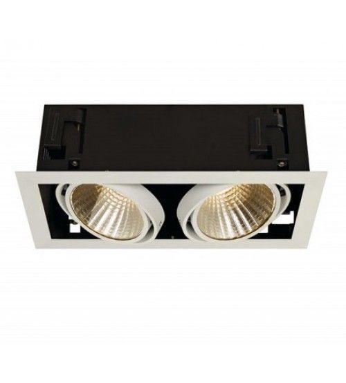 Winkelspots Xl 230 Volt 2 Led Spots Wit Mat Led Lichtbundel En Inbouw Plafond