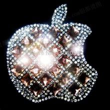 Wholesale ! Apple Designs hotfix rhinestones motif heat transfer for cup chain strass crystal iron on transfers