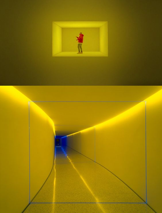 "Still from Drake's video with James Turrell's ""The Inner Way"" (1999) (bottom image via @annamaria_art11/Instagram)"