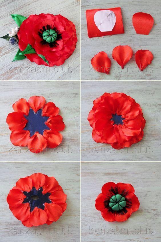 Uyutnyj Dekor Dlya Doma Handmade I Rukodelie Flower Diy Crafts Ribbon Flower Tutorial Fabric Flower Brooch