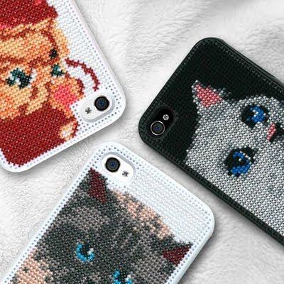 Cross-stitch iPhone Covers