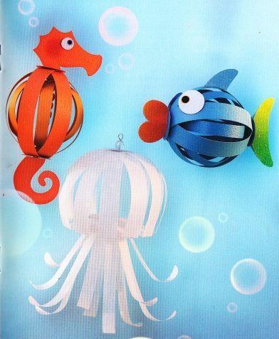 poissons papier crafts pinterest lanternes en papier papier 3d et poisson. Black Bedroom Furniture Sets. Home Design Ideas