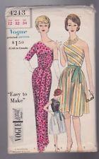 Vogue 4213 Sewing Pattern Vtg 60s Sz 12 Special Design Bare Shoulder Dress