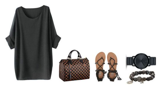 """""""Untitled #283"""" by madebyaliciap ❤ liked on Polyvore featuring Billabong, Louis Vuitton, Carole Shashona and Movado"""